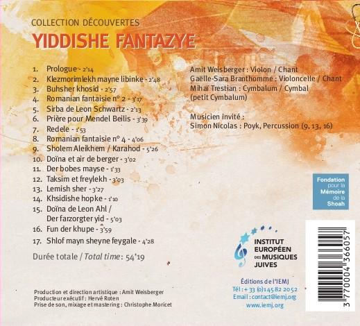 Yiddishe Fantazye couv-