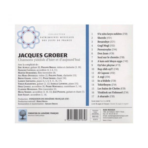Jacques Grober - Chansons yiddish d'hier et d'aujourd'hui