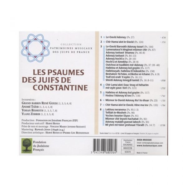 Les Psaumes des Juifs de Constantine