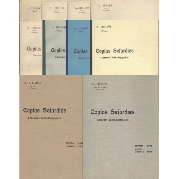 Ensemble des 10 partitions Coplas Sefardies de Alberto Hemsi
