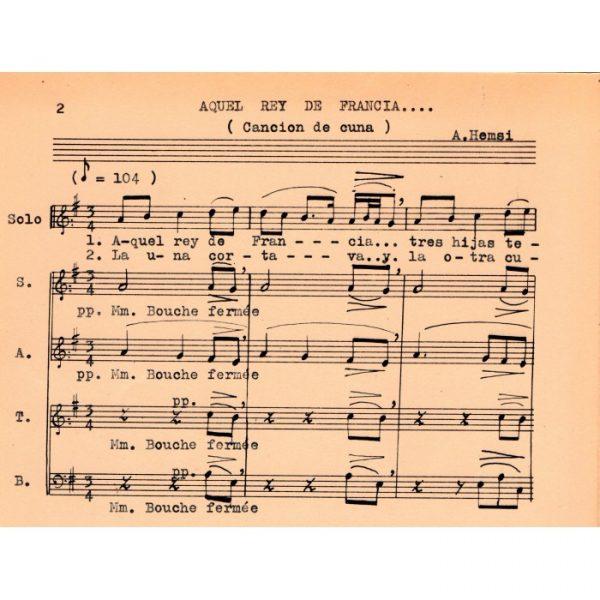 Aquel rey de Francia - Coros sefardíes (Alberto Hemsi)