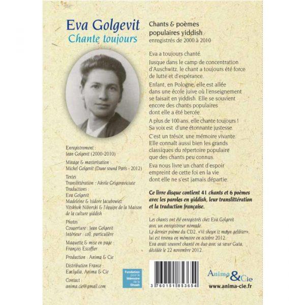 Eva Golgevit chante toujours