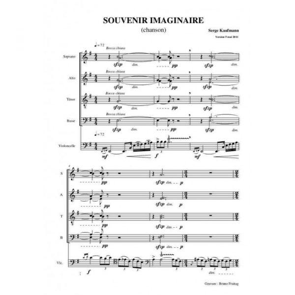 Serge Kaufman - Souvenirs imaginaires, chanson pour choeur mixte et violoncelle