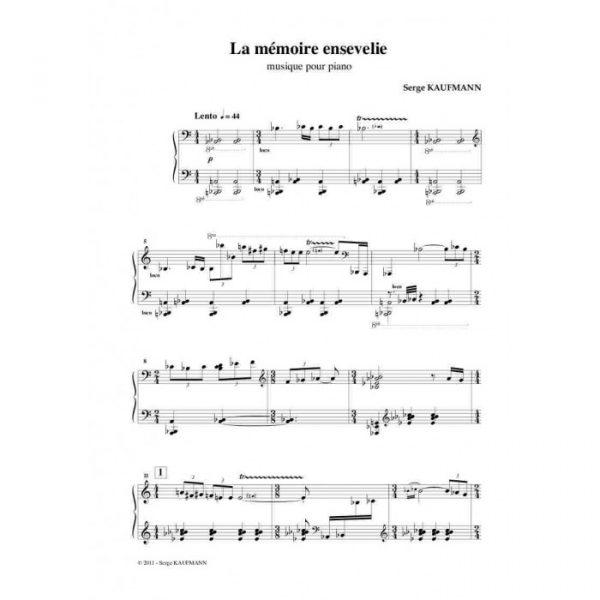 Serge Kaufman - La mémoire ensevelie, Musique pour piano
