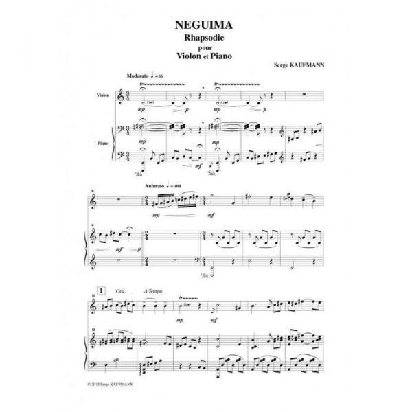 Serge Kaufman - Neguima, Rhapsodie pour violon et piano