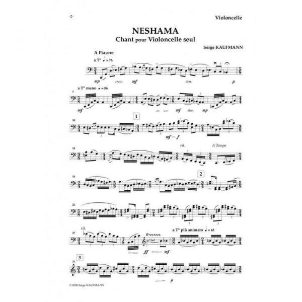Serge Kaufman - Neshama, Chant pour violoncelle seul