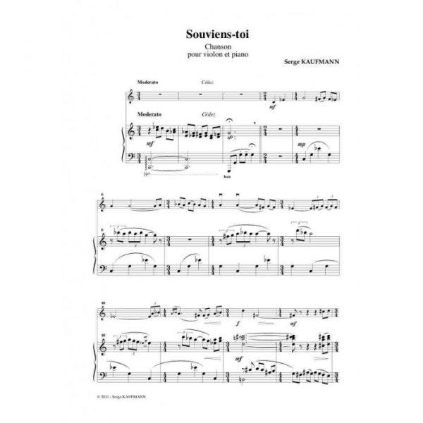 Serge Kaufman - Souviens-toi, Chanson pour violon et piano
