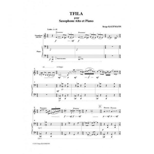 Serge Kaufman - Tfila, pour saxophone alto et piano