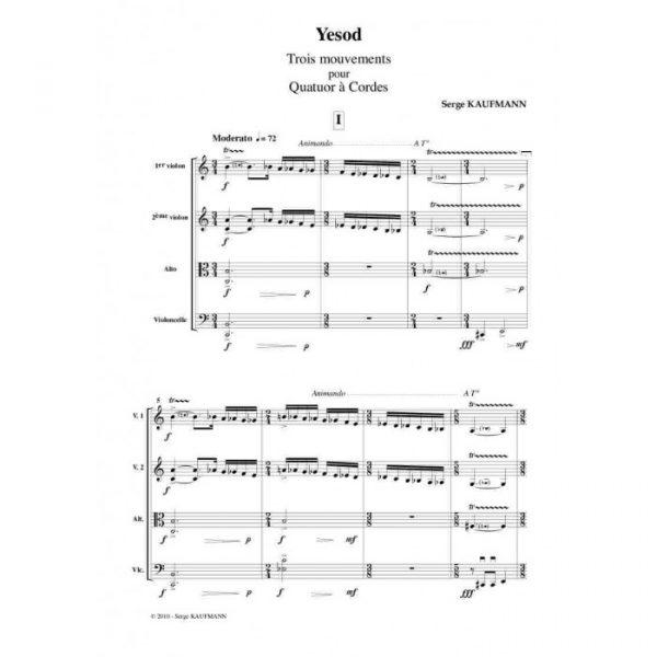 Serge Kaufman - Yesod, Chant pour violoncelle seul