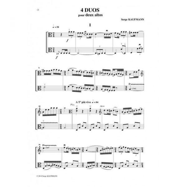 Serge Kaufman - Quatre duos pour deux altos