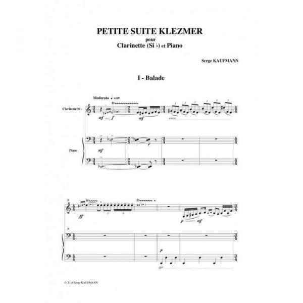 Serge Kaufman - Petite suite klezmer pour clarinette et piano