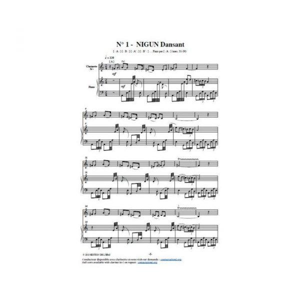 Movsessian and Vialatte - Twenty nigunim for clarinet and piano - printed score