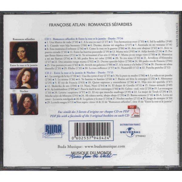 Françoise Atlan - CD Double - Romances séfardies