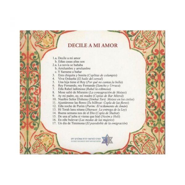 Decile a mi amor - Cantares judeo-españoles de Tetuán