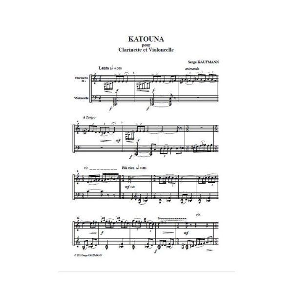 Serge Kaufmann - Katouna, pour clarinette et violoncelle