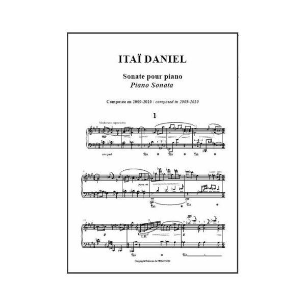 Daniel - Sonate pour piano - partition imprimée