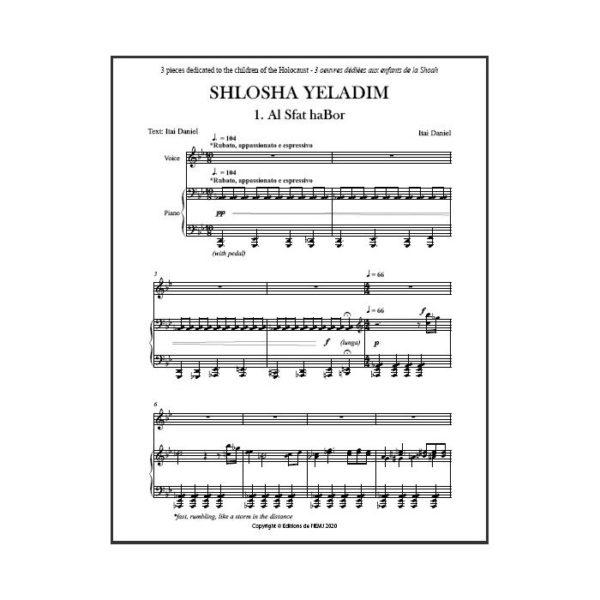 Daniel - Shlosha Yeladim pour voix et piano - partition imprimée