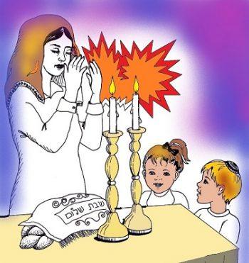 Allumage bougies de Shabbat