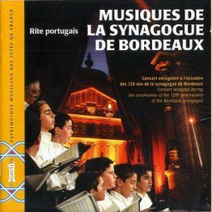 COUV PMJF 1 - Musiques de la Synagogue de Bordeaux
