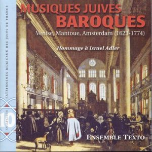 COUC CD PMJF 10 - Musiques Juives baroques